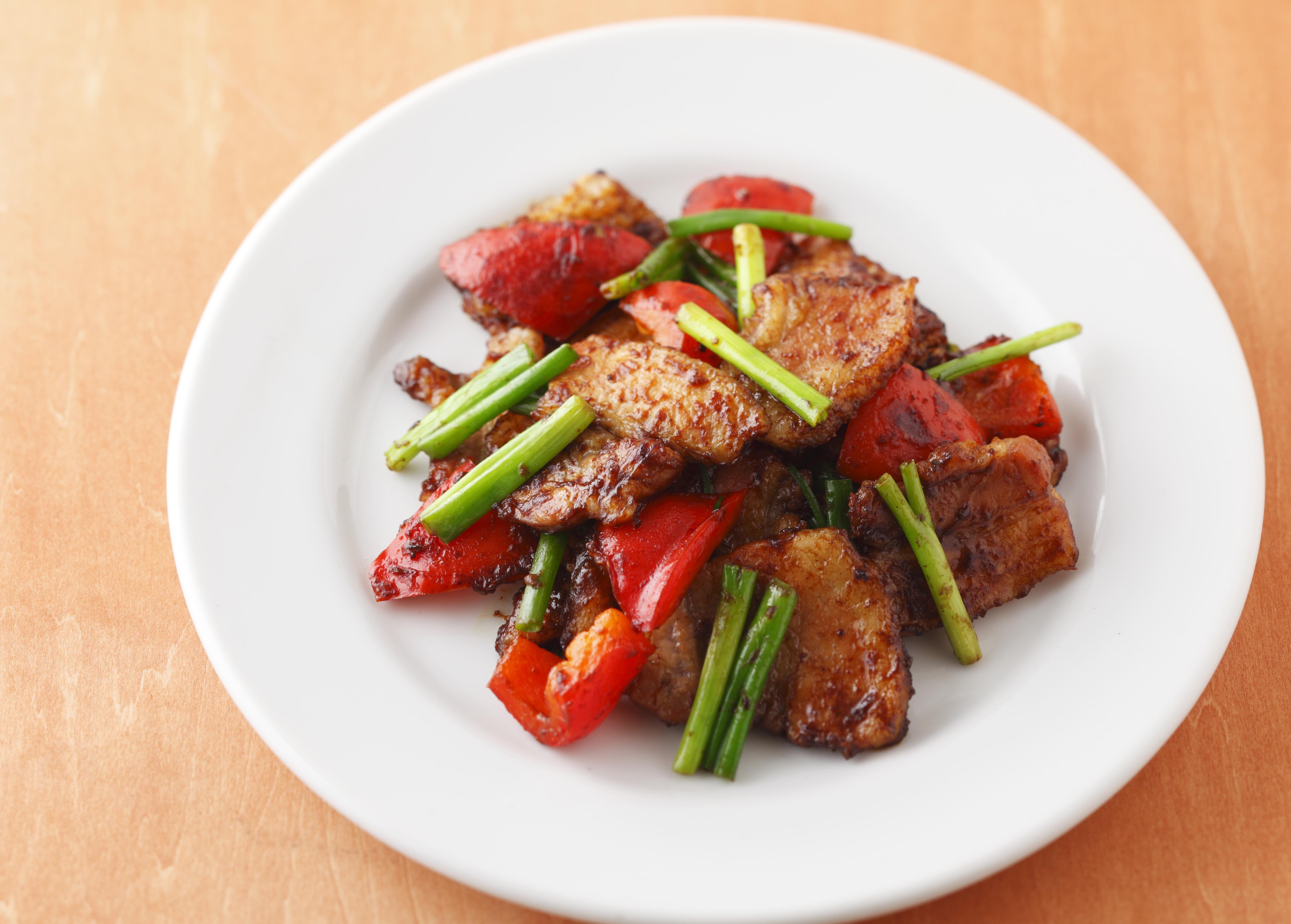 豚肉のカレー炒め はちみつ入り